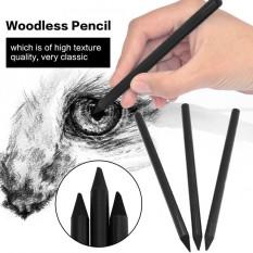 Mua 3 cái/bộ Full Than Woodless Nghệ Sĩ Bút Chì Cho Vẽ Phác Thảo Tranh Văn Phòng Phẩm Màu Đen-quốc tế