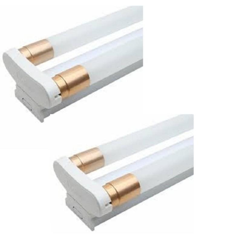 4 Bóng đèn tuýp led T8 1,2m 20w ánh sáng trắng + 2 máng đôi