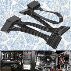 4 Pin IDE Molex To 5 Nối Tiếp Ổ Cứng SATA Adapter Cứng Cáp Dây-quốc tế