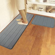 Giá Bán 40X120Cm Memory Foam Washable Bedroom Floor Pad Non Slip Bath Rug Mat Door Carpet Deep Grey Intl Oem Mới