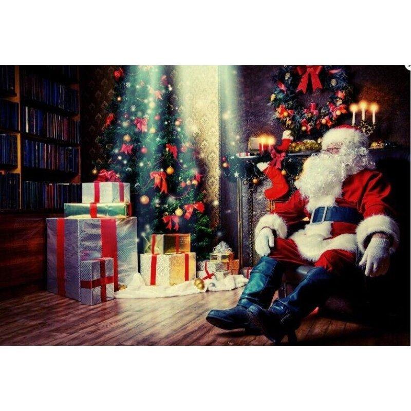 40x30 cm Đèn led Giáng Sinh Ông Già Noel Canvas Nghệ Thuật Hình In Trang Trí Tường Nhà-quốc tế