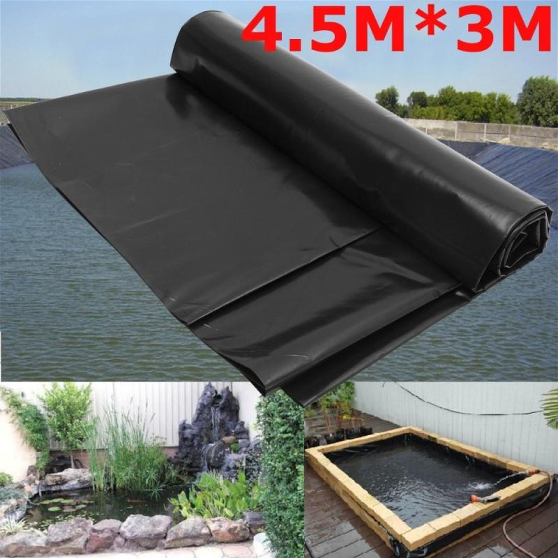 4.5X 3M Ao Cá Lót Vườn Hồ HDPE Màng Gia Cố Bảo Lãnh Cảnh Quan Đen-quốc tế