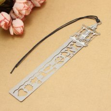 4pc Metal Hollow Ultra-thin Ruler Study Fairy Tale World Bookmark Drawing School Pattern Carousel