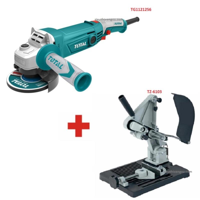 """5"""" (125mm) Máy mài góc 1010W Total TG1121256 + Đế máy cắt bàn dùng cho máy cắt cầm tay TZ-6103"""