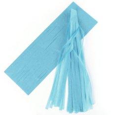Giá Bán 5 Pcs Tissue Garlands Bunting Ballroom Paper Tassels Decor Dark Blue Intl Nguyên Oem