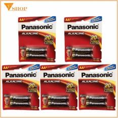 5 vỉ Pin Panasonic AA alkaline, Pin tiểu LR6/BT