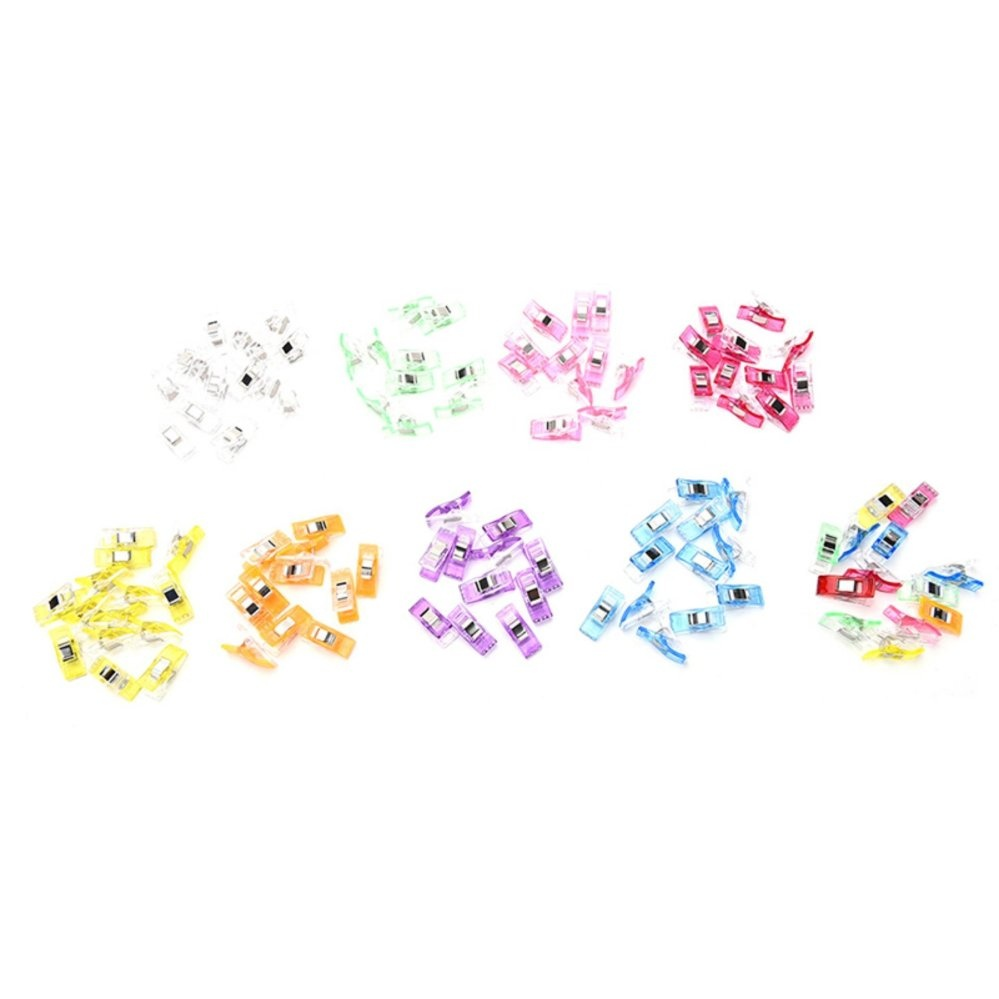 50 Pcs/lot DIY Patchwork Fabric Wonder Clips Knitting Craft Office Stationery Multicolor - intl - 1