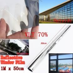 Hình ảnh 50cm x 1m Silver Solar Reflective One Way Mirror Privacy Window Film Insulation - intl