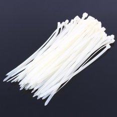 Hình ảnh 5mm*300mm Nylon Plastic Zip Ties Self-Locking 100pcs(White) - intl
