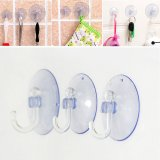 5Pcs Transparent Wall Hooks Hanger Kitchen Bathroom Suction Cup Sucker Accessorie 3cm - intl