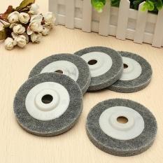 Hình ảnh 5pcs/set 4'' 100mm Gray Fiber Polishing Sanding Disc Metal Buffing Wheel Pad - intl