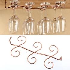 Hình ảnh 6 ly rượu vang Thủy Tinh Giá Treo Stemware Treo Dưới Tủ Giá Đỡ Móc Treo Thanh Nhà Bếp-quốc tế