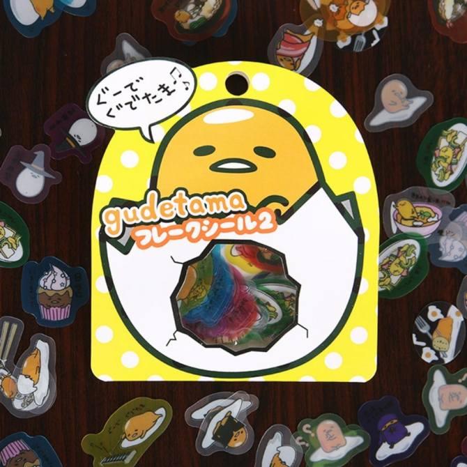 60 cái/gói Trứng Lười Hàn Kín Dán Nhật Ký Nhãn Dán Bộ Trang Trí Thêu Sò DIY Dán dấu chấm Màu Vàng-quốc tế