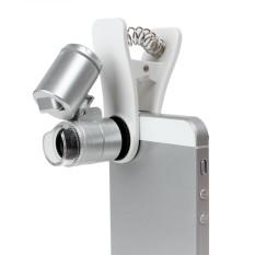 Hình ảnh Đa năng Điện Thoại Di Động 60X Kính Quang Học LED Kẹp Kính Hiển Vi Ống Kính