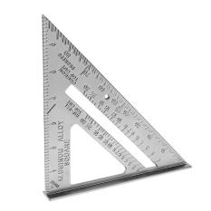 Hình ảnh 7 inch Hợp Kim Nhôm Góc Tam Giác Cai Trị với Độ Chính Xác 0.1 và 1 Quy Mô Giá Trị-quốc tế