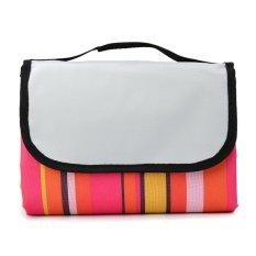 79x59 Waterproof Outdoor Beach Camping Picnic Moistureproof Mat Blanket Pad Red Stripe - intl