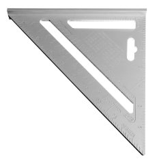 Mua 7inch Silver Aluminum Alloy Speed Square Roofing Triangle Angle Protractor Try Square Carpenters Measuring Layout Tool - Intl