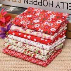 Mua 7 cái Họa Tiết Hoa Chất Vải 100% Cotton Xẻ Trước Đồng Bằng Vải Mùa Hè Chăn Mỏng Nhiều Màu Đỏ MỚI- quốc tế