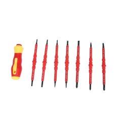 7pcs Insulation Manually Screwdriver Repair Kit (Red) - intl