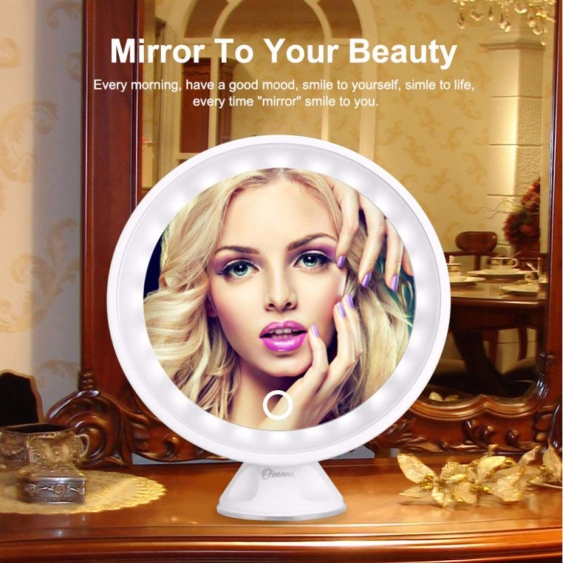 7X Maginifcation LED Makeup Mirror 360-degree Free Rotation Vanity USB Charge Cosmetic Mirror - intl