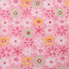 Mua 7x Vuông 25x25 cm Các Loại Hoa Văn Họa Tiết Hoa Chất Vải Cotton Vải Đồ trang trí tháng 5 Màu Hồng-quốc tế