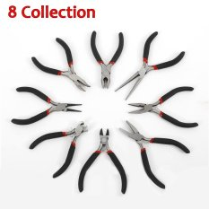 8 Pcs Mini Pliers Tools Set For Making Beading Round Flat Long Nose size:1-8# - intl