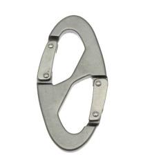 8-shaped Aluminum Carabiner Snap Clip Hook Keychain Hiking Bottle Buckle (Intl)