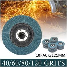 80 Grit 10x 5 Metal Sanding Flap Discs Zirconia Angle Grinder Wheels - intl