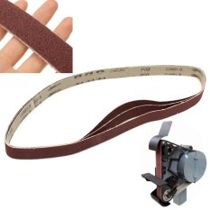 80 Grit 3 Pack of 1 x 42 Air Sander Sanding Belts Metal Working Sharpening - intl