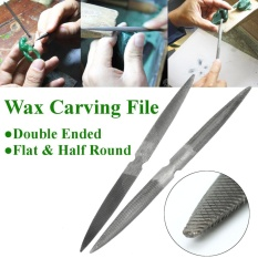 Mua 8 Carbon Steel Double Ended Flat & Half Round Wax Carving File Jewellers Tool - intl