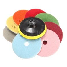 9PCS Wet Dry 4inch Diamond Polishing Pad Discs Set For Granite Marble Polish New - intl