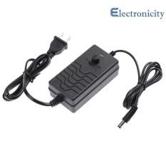 Có thể điều chỉnh AC sang DC Adapter 24 - 36 v 2A Nguồn Điện Cung Cấp Bộ Điều Khiển Tốc Độ Động Cơ  ( Đen )   - HOA KỲ - quốc tế