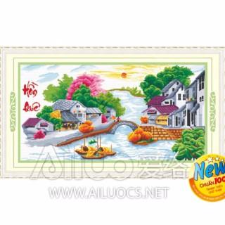 Tranh thêu chữ thập hồn quê AL51399-Ngọc Thịnh thumbnail
