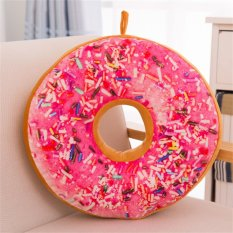 Hình ảnh Allwin Soft Donuts Plush Pillow Sweet Sofa And Chair Back Cushions Home Decoration - intl