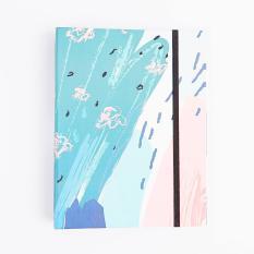 Ôn Tập Tốt Nhất Ẩm Sổ Cong Blue Pastel Crabit Notebuck Loại Cong 6 Lỗ