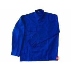 Bộ áo và quần bảo hộ lao động xanh công nhân Size XXL
