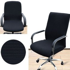 Arm Chair Cover Three Sizes Office Computer Chair Cover Side Zipper Design Recouvre Chaise Stretch Rotating Lift Chair Cover - intl giá rẻ