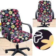 Ôn Tập Arm Chair Cover Three Sizes Office Computer Chair Cover Side Zipper Design Recouvre Chaise Stretch Rotating Lift Chair Cover Intl