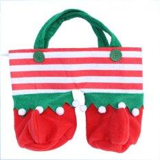 Hình ảnh Aukey Store Chúc Giáng Sinh 2 cái Túi Đựng Bình Sữa Giáng Sinh Than Cốc Rượu Tặng Giá Đỡ Tay Cầm Lưu Trữ Pounch Đảng-quốc tế