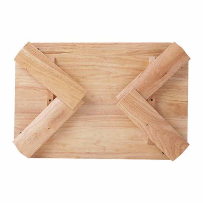Hình ảnh Bàn trà gỗ chân bánh mỳ 70x50 (Tự nhiên)