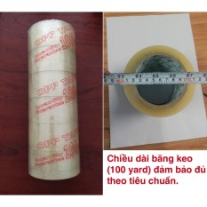 Hình ảnh Băng keo dán thùng, combo 6 cuộn, dài 100yard đủ (trong suốt)