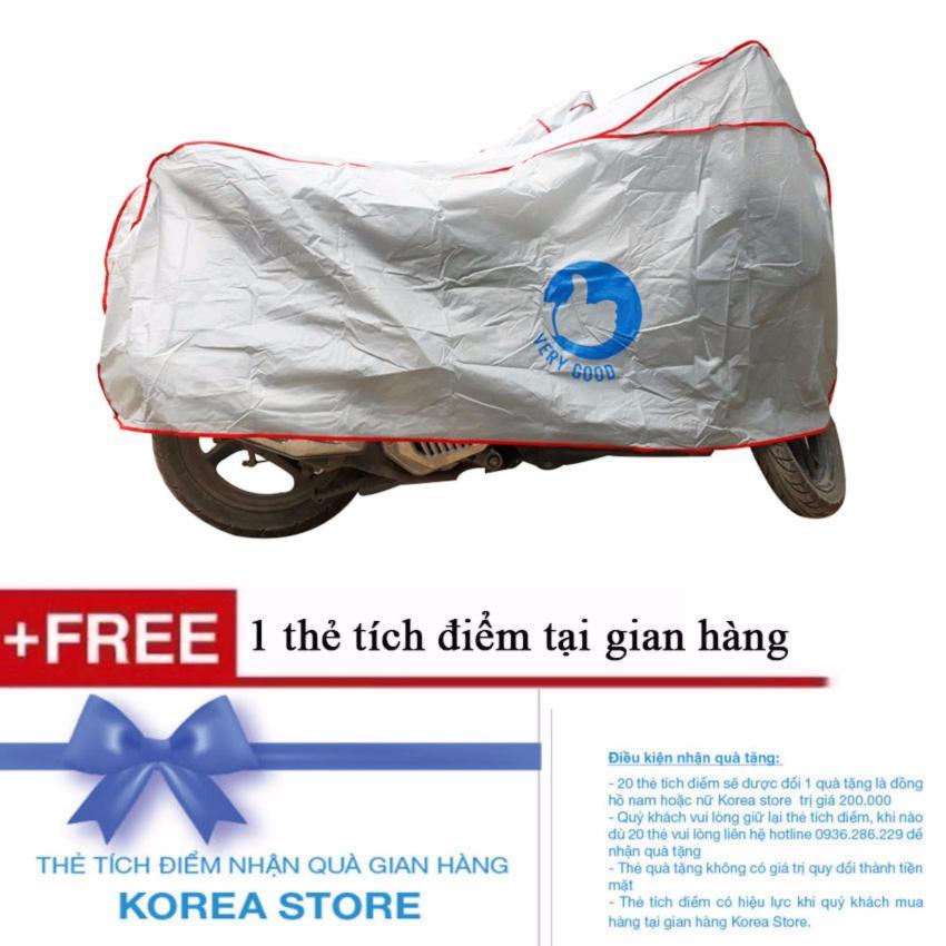 Hình ảnh Bạt Phủ Xe Máy Loại Cao Cấp Siêu Bền Verygood + Tặng kèm 1 thẻ tích điểm KoreaStore