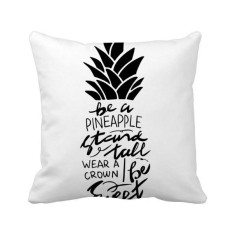 Hình ảnh Be a Pineapple Stand Tall Sweet Quote Square Throw Pillow Insert Cushion Cover Home Sofa Decor Gift - intl