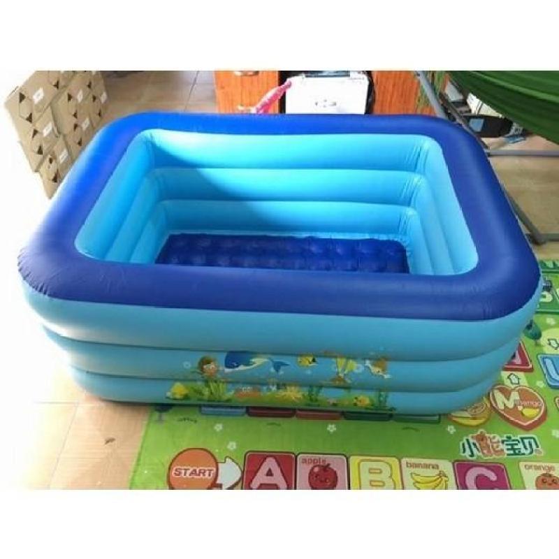 Bể bơi phao 3 tầng cho bé size to 150x110x50cm - Mẫu mới 2018 Hồng Nhung Online