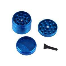 Beau 4 pcs Zinc Metal Zinc Alloy Hand Crusher Herb Spice Pollen Grinder Blue - intl