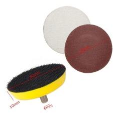Beautymaker 61pcs/Set 2inch 50mm Mix Grit Sanding Discs Polishing + M6 Sanding Backing Pad - intl