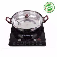 Bếp điện từ đơn Kangaroo KG365i (Đen) kèm nồi lẩu