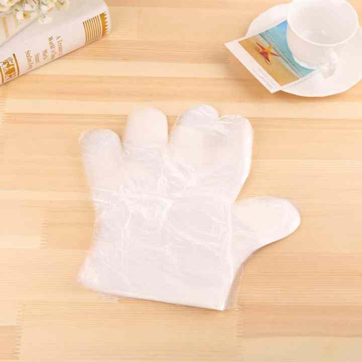 Găng tay nilon vệ sinh thực phẩm(100 cái) + Tặng kèm thẻ tích điểm Verygood