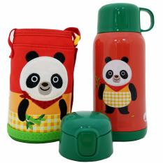 Giá Bán Binh Giữ Nhiệt Cartoon Kisd Lock Lock 550Ml Gấu Panda Mới