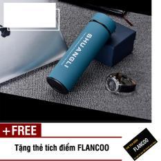 Mã Khuyến Mại Binh Giữ Nhiệt Inox Flancoo 3502 Xanh Dương Tặng Kem Thẻ Tich Điểm Flancoo Rẻ